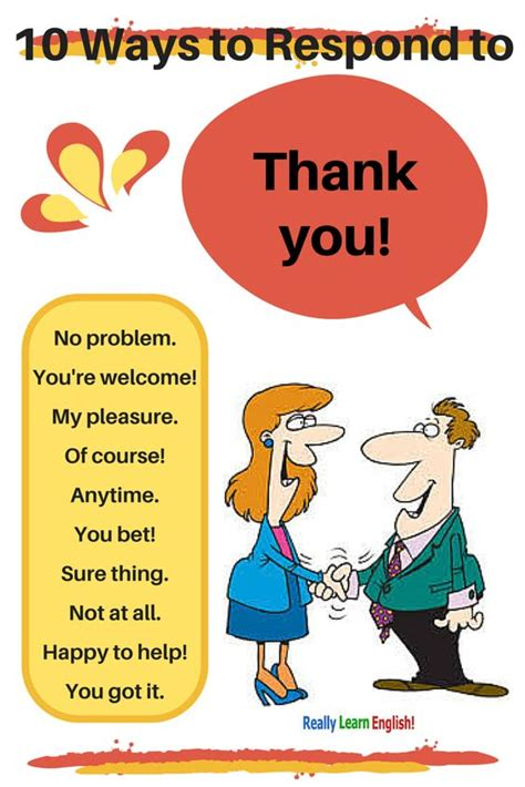 imagenes learning english 10 ways to respond to thank you in english synonyms for