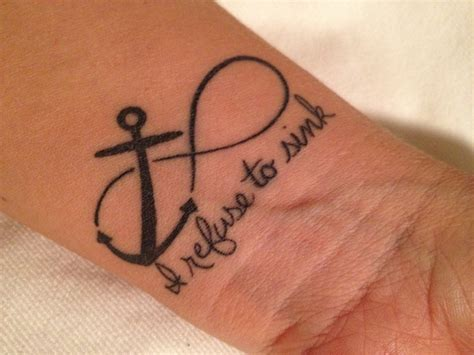 i refuse to sink anchor tattoo meaning 44 i refuse to sink anchor tattoos