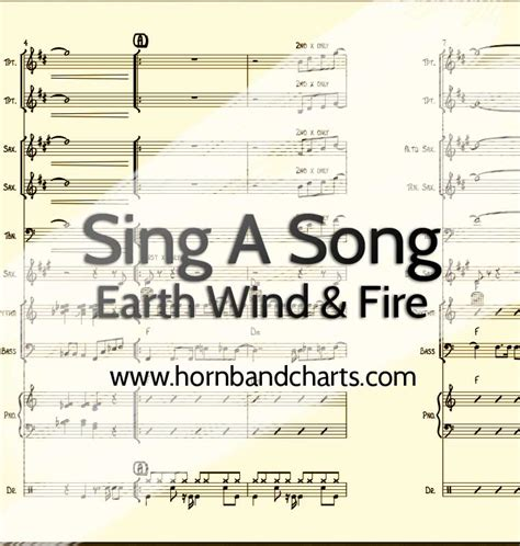 earth wind and fire horn section sing a song horn chart earth wind fire pdf download