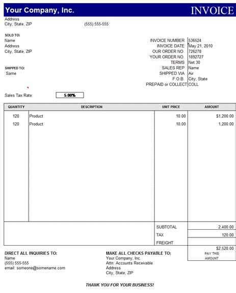 Invoice Template Microsoft Excel by Free Invoice Template Simple And Easy To Use Invoices