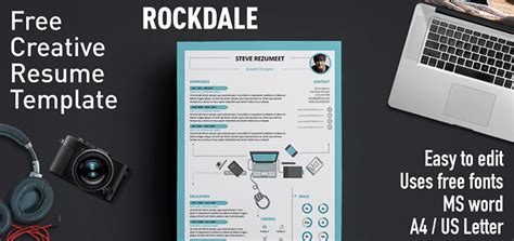 creative resume templates ms word free rockdale creative resume template