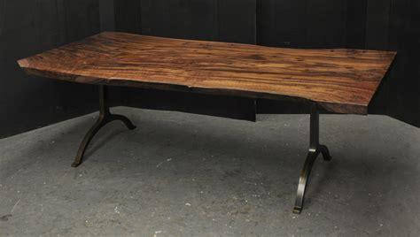claro walnut slab dining table dorset custom furniture