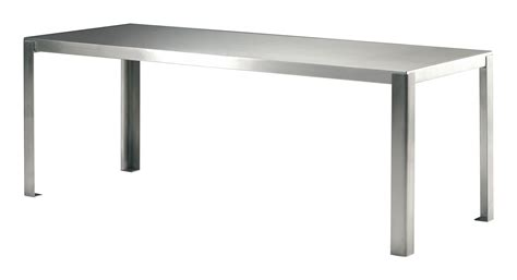 Rectangular Table L Stainless Table Rectangular L 200 Cm 200 X 90 Cm Satin Stainless Steel By Zeus