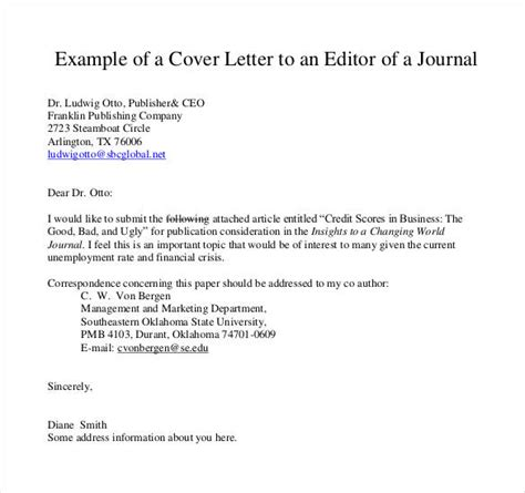 Sle Cover Letter Editor cover letter exles for authors cover letter