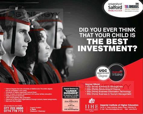 Metropolitan Mba In Sri Lanka by Of Salford Manchester Bachelor Degree Programme