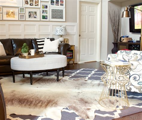 Cowhide Area Rugs A Cowhide Rug Accident With A Happy Ending Decorchick