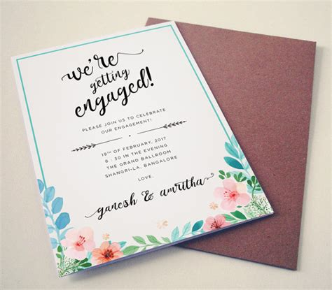 Engagement Invitation by 40 Printable Engagement Invitations Templates Free