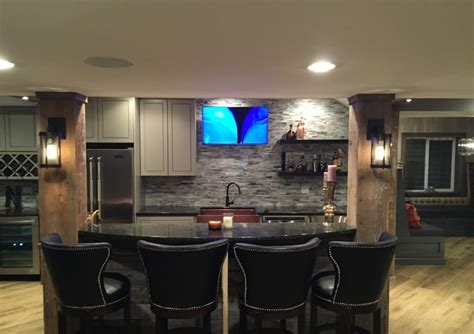 home bar area bar area transitional home bar chicago by sound design inc