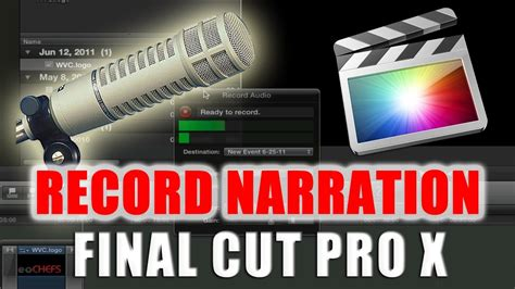 final cut pro youtube upload how to record narration voice over in final cut pro x