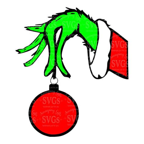 printable grinch ornaments svg grinch hand dxf eps christmas grinch