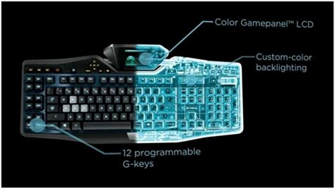 Pc Logitech G19s Gaming Keyboard With Color Panel Screen tastatura gaming logitech g19s pc garage