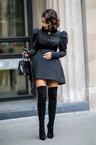 how to wear thigh high boots with skirts and dresses