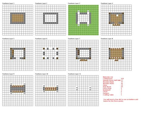 Minecraft Castle Blueprints Layer By Layer Minecraft Minecraft House Blueprints Castle