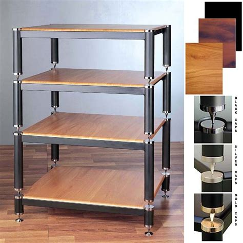 Vti Audio Rack by Vti Bl Series Extended Height Audio Rack Various Finishes