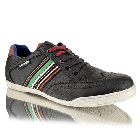 Sepatu Mocassin Casual Avail Brown mens lambretta casual lace up brogue sporty sneaker brown