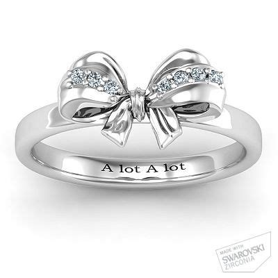 Set Of 3 Bow Ring sterling silver fancy set bow ring stones wedding