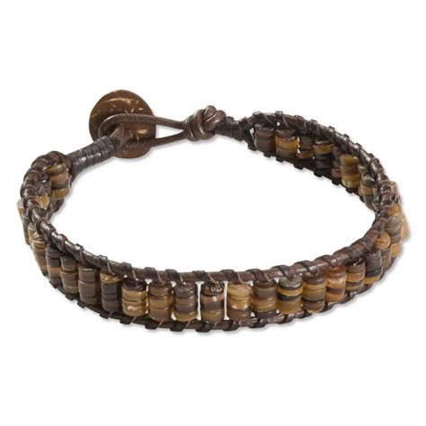 leather bead bracelets s braided bracelet braided bead leather bracelet
