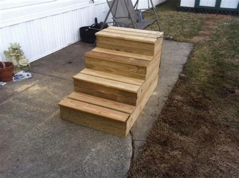 mobile home steps plans unique wooden portable steps for your travel trailer