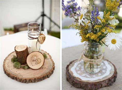 wood centerpiece wedding centerpieces ideas with flowers candles 171 plant a memory favors gifts