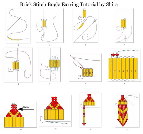 learn how to bead american how to brick stitch bugle earrings featured on bead