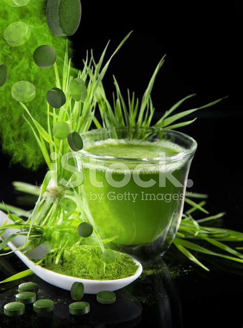 Barley Detox by Barley Chlorella Stock Photos Freeimages