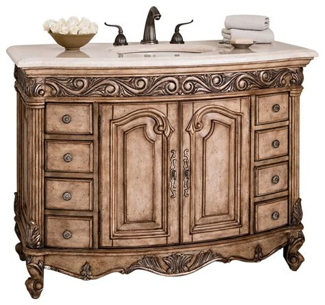 Ambella Bathroom Vanities Ambella Home Collection Provincial Medium Sink Chest Traditional Bathroom Vanities And Sink