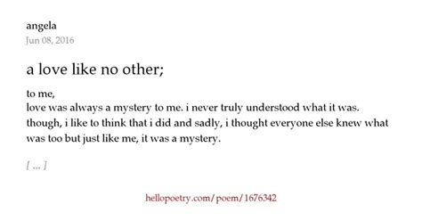 Like No Other Lover a like no other by angela hello poetry