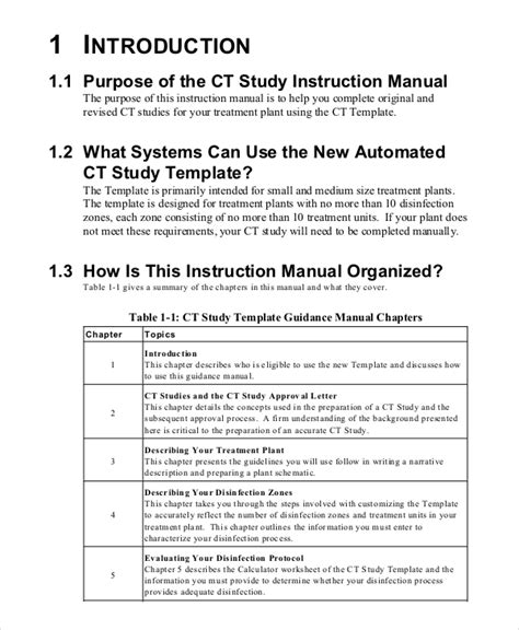 operating manual template manual template 10 free word pdf documents