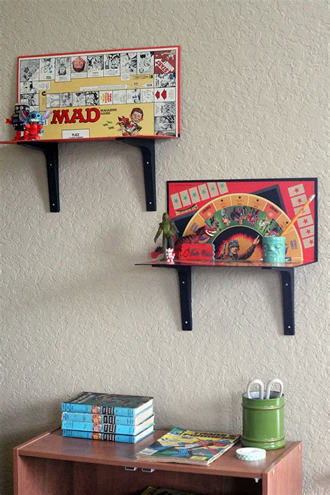 25 ways to upcycle your old stuff easy ideas for modify make your own easy game board shelves 3 ways diy