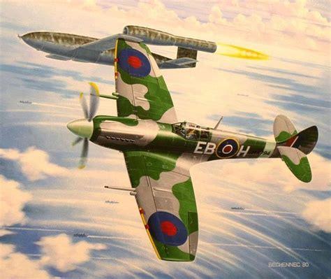 doodlebug airplane spitfire mk xii versus v 1 doodlebug by daniel