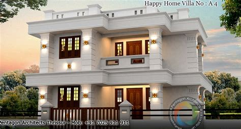 1377 sq ft floor happy home villa 4 design