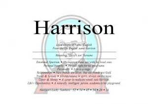 what does the name firstnamestore harrison name means harry s