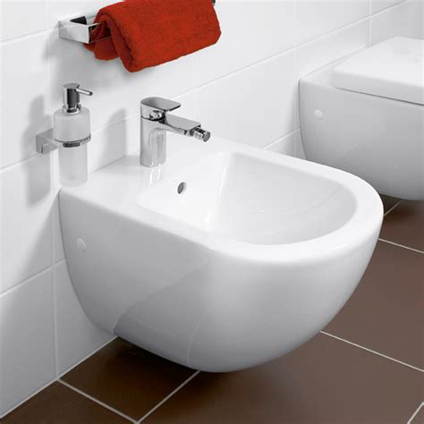 bidet subway villeroy boch subway wall mounted bidet l 56 w 37 cm
