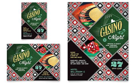 Casino Night Flyer Ad Template Word Publisher Casino Fundraiser Flyer Template