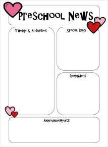 free newsletter templates for preschool sle preschool newsletter 5 free for word pdf
