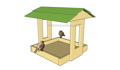 platform bird feeder plans free outdoor plans diy shed