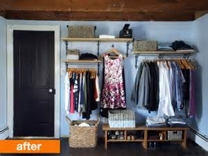 before after a creative solution for a no closet