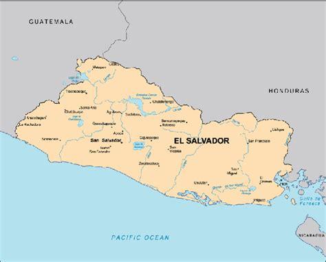 el salvador map map el salvador centre for intercultural learning