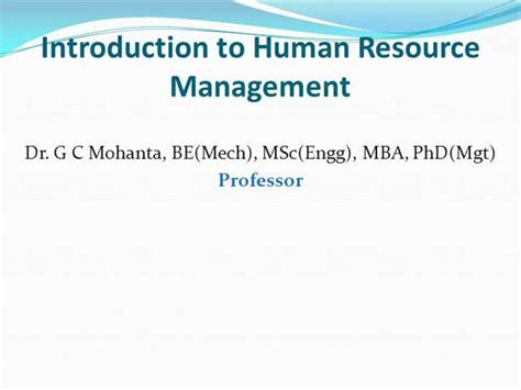 Mba Hrm Means by Hrm Definition Evolution Objective Scope And Function