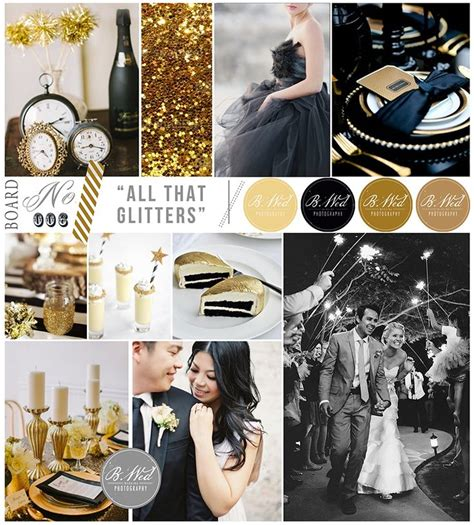 quot all that glitters quot black white gold inspiration board b wed wedding photography one day