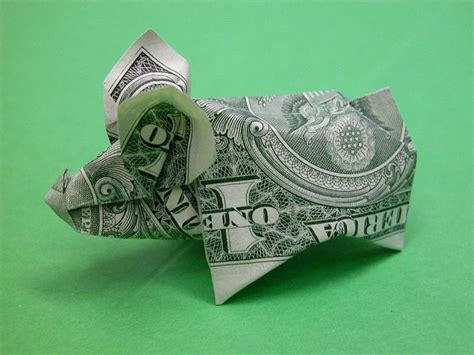 Dollar Origami Pig - 1000 images about money on dollar bills