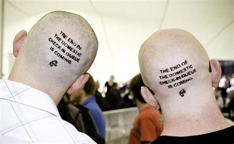 henna tattoo nz kiwis queue up to become cranial billboards in air new