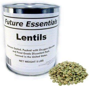 1 can of future essentials lentils dried 10 can 5 lbs