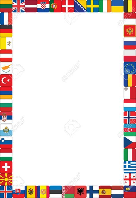 flags of the world page border international flag borders clipart