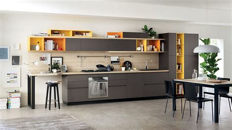 kitchen shelves design foodshelf fresh fluid design unites living room and kitchen