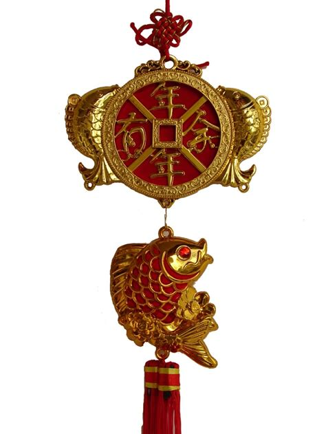 new year luck fish new year decoration charm luck fish and fortune coin
