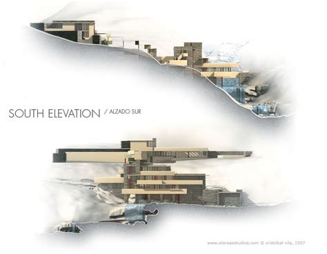 falling water section fallingwater cgi animation the big picture