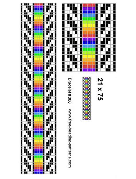 seed bead bracelet patterns loom rainbow stip seed bracelet bead loom pattern