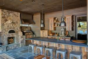 Rustic Outdoor Kitchen Ideas by Rustic Stone House In Bar House Design And Decorating Ideas