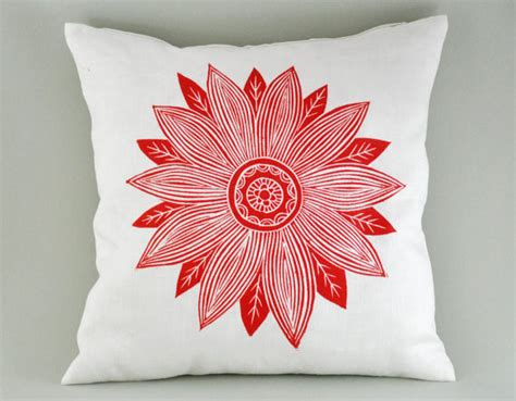 Printing On Pillows by Sunburst White Linen Cushion Cover By Kiran Ravilious